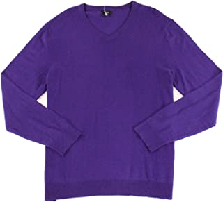 ALFANI Men's Solid V-Neck Sweater