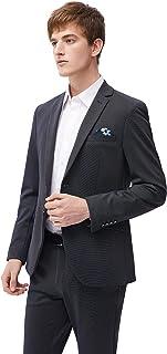 Men's 2 Pieces Suit Slim Fit Stretch Knitting Fabric Wedding Business Suit for Men Two Buttons Blazer Pant