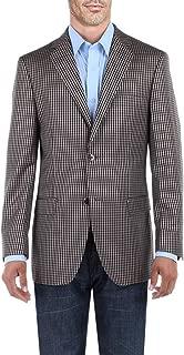 DTI BB Signature Men's Dress Suit Jacket Two Button Check Modern Fit Blazer Coat