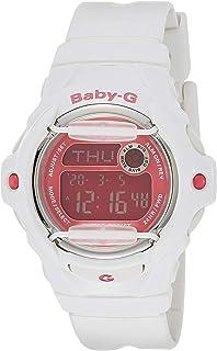 ساعة يد من كاسيو بحركة كوارتز للنساء بشاشة رقمية وبحزام من البلاستيك BG169R-7ECR