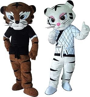 Kung Fu Judo Tiger Tigress Cartoon Mascot Costume Fancy Dress Outfit