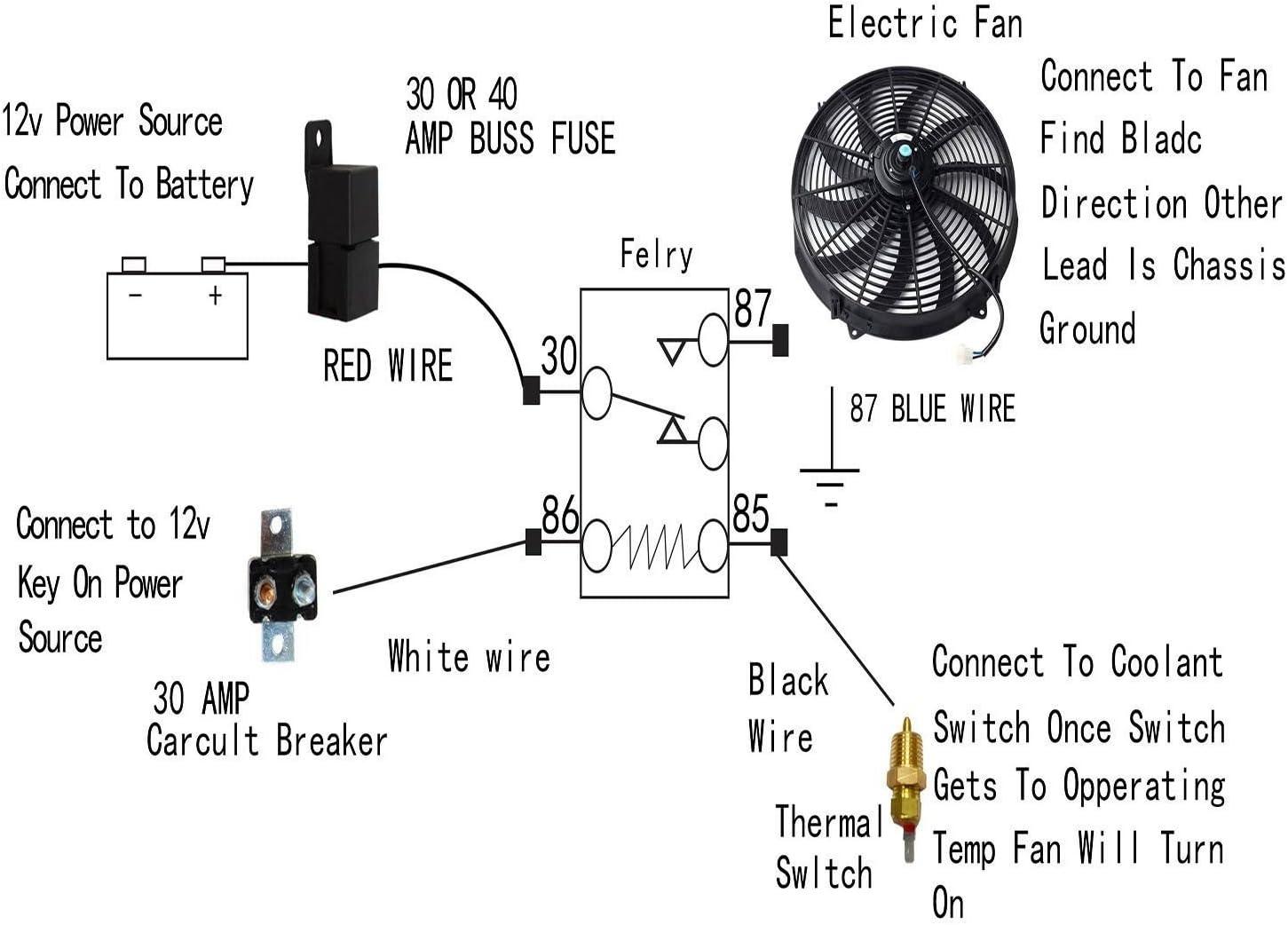 Radiator Fan Electric Fan Relay Wiring Diagram from m.media-amazon.com