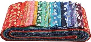 Bali Batiks Gemstone Bali Poppy 20 2.5-inch Strips Jelly Roll Hoffman Fabrics BPP-427-GEMSTONE