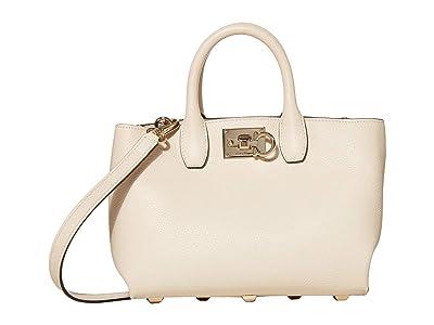 Salvatore Ferragamo The Studio Grainy Mini (Bone) Handbags