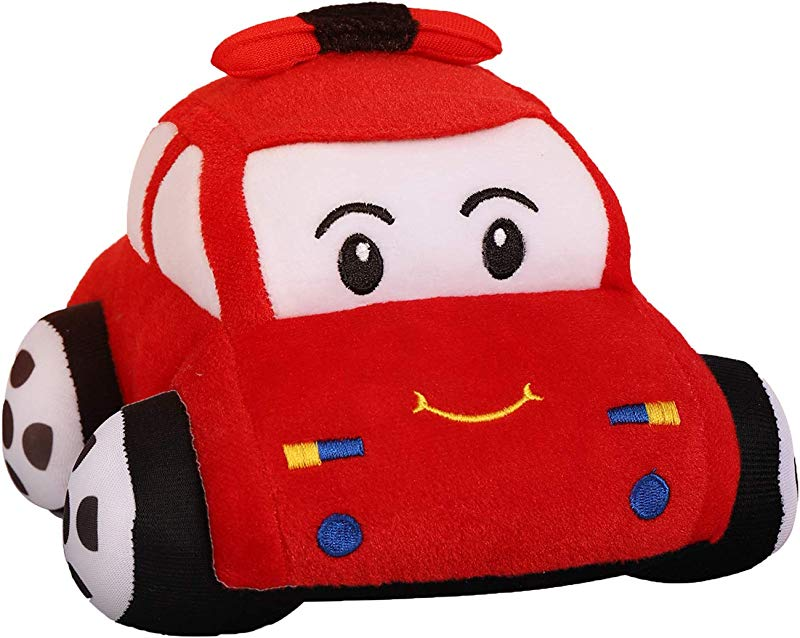 Cars Plush Stuffed Police Model Car Soft Pillow Buddy Cute Gift For Kids Chidren Birthday Present Red 9 Inch