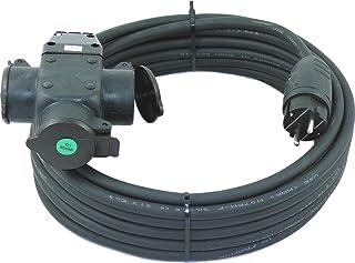 netbote24 Schuko-Verlängerungskabel mit 3-Fach Kupplung H07RN-F 3x2,5 mm² IP44 - Außenbereich AC 230V/16A 5-50m 10m