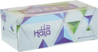 Hala Facial Tissue-Pack of 10 boxes, 200 sheets x 2Ply
