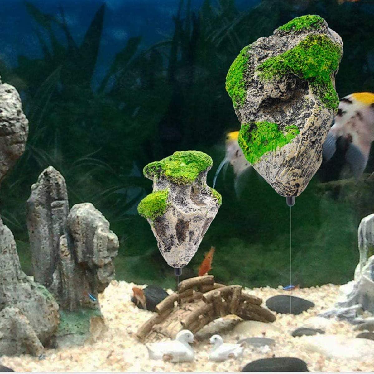 Floating Rock Resin Stone Medium Fish Tank Decorated Rock NGe Aquarium Decorated with Suspended Rock