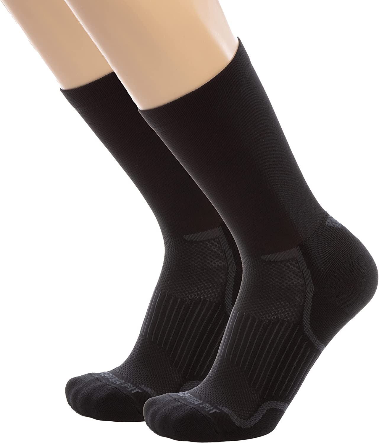 Copper Fit unisex-adult Copper Fit Energy Copper Infused Crew Socks, 2 Pack