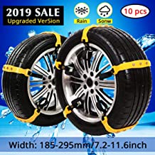 PrettyQueen SUV Car Snow Chains for Trucks Cars Snow Tire Chains for SUV Anti Slip Tire Chain Adjustable Snow Tire Cable Mergency Car Chains 185-295mm/7.2-11.6''