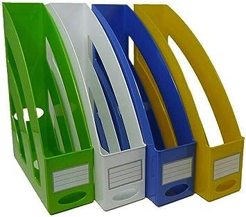 gelb in trendigen Farben /& modernen Design Aufbewahrung von Stehsammler//Zeitschriftensammler C4 10 St/ück Heften /& Mappen sowie Dokumenten bis Format A4