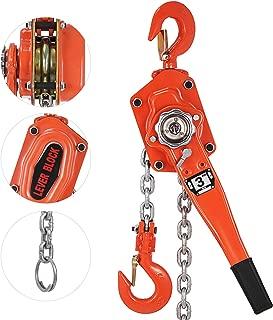 OrangeA 3 Ton Lever Block Chain Hoist 5FT Ratchet Lever Chain Hoist Come Along Lift Puller (5ft)