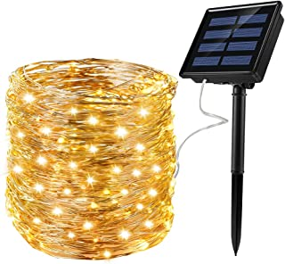Solar Fairy Lights Waterproof 72ft 200LED Small Solar Lights String Outdoor 8 Modes for Christmas, Patio,Garden,Gate,Art Party Wedding Warm White for Heeopw