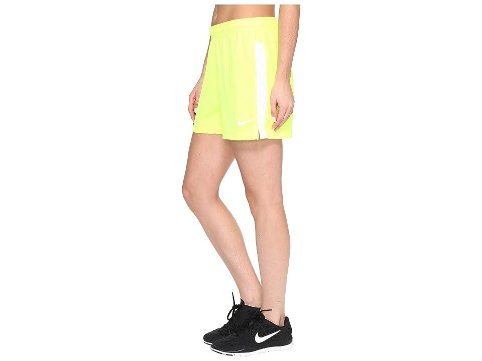 Nike Dri-FITtm Academy Knit Shorts (Volt/White/White) Women