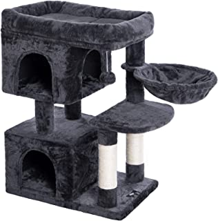 HOOBRO Cat Tower, Cat Tree with 2 Plush Condos and Sisal Scratching Posts, cat Activity Tree for Indoor Cats, Release The ...