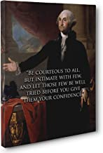 Be Courteous George Washington Quote Canvas Wall Art