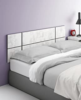 Abitti Cabezal cabecero Blanco Collage para Camas de 135cm o 150cm Ancho de Dormitorio. Incluye herrajes para Colgar. 150cm Ancho x 50cm Alto x 32mm