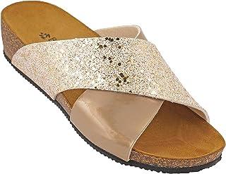 012-296 Biochic Ladies Sandals Metallic Gold