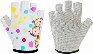 Guantes de escalada de medio dedo para niños de 1 a 10 años de edad para niños y niñas, barras de mono de gimnasia, guante...