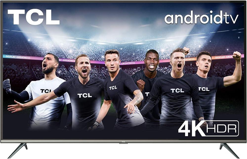 Tv tcl ,4k hdr, ultra hd, smart tv con sistema android 9.0, design senza bordi,43 pollici 43P616
