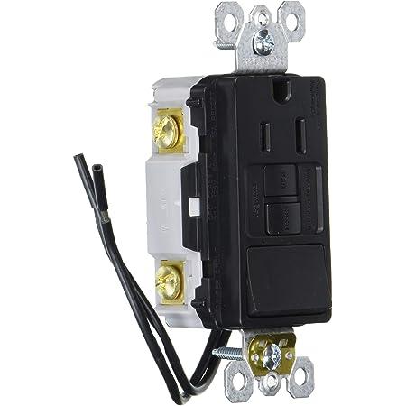 3-pack 15 Amp Tamper R Decorator single pole  Rocker Switch /& receptacle Black
