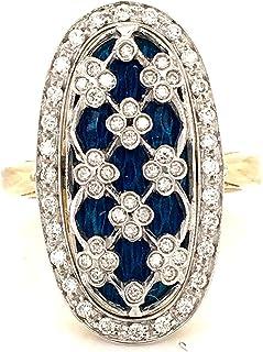 Anello in Oro 18 K con Diamanti Naturali E SMALTI