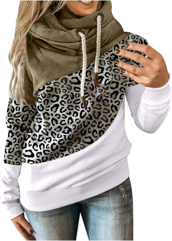 Hotkey Hoodies for Women Long Sleeve Cowl Popular Max 48% OFF products Sweatshirt Hooded Neck
