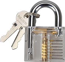 Ambienceo Professional Visible Practice Lock Cutaway Transparent Padlocks Training Skill for Locksmith, Children