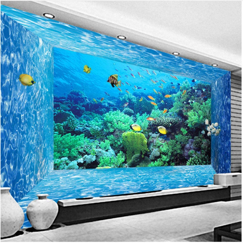 xbwy Hd Underwater World Marine Organism 3D Wallpaper Living Room Spatial Expansion Backdrop Decor-350X250Cm