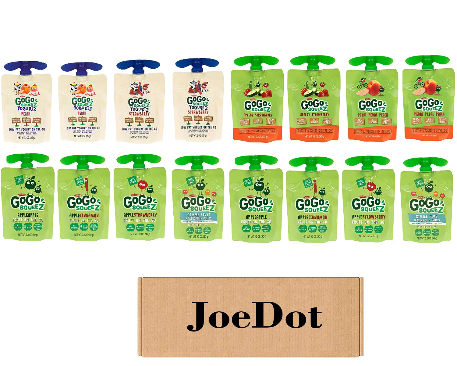 JOEDOT Complete Free Shipping GoGo JUICE Variety pack Strawberry and discount St Peach