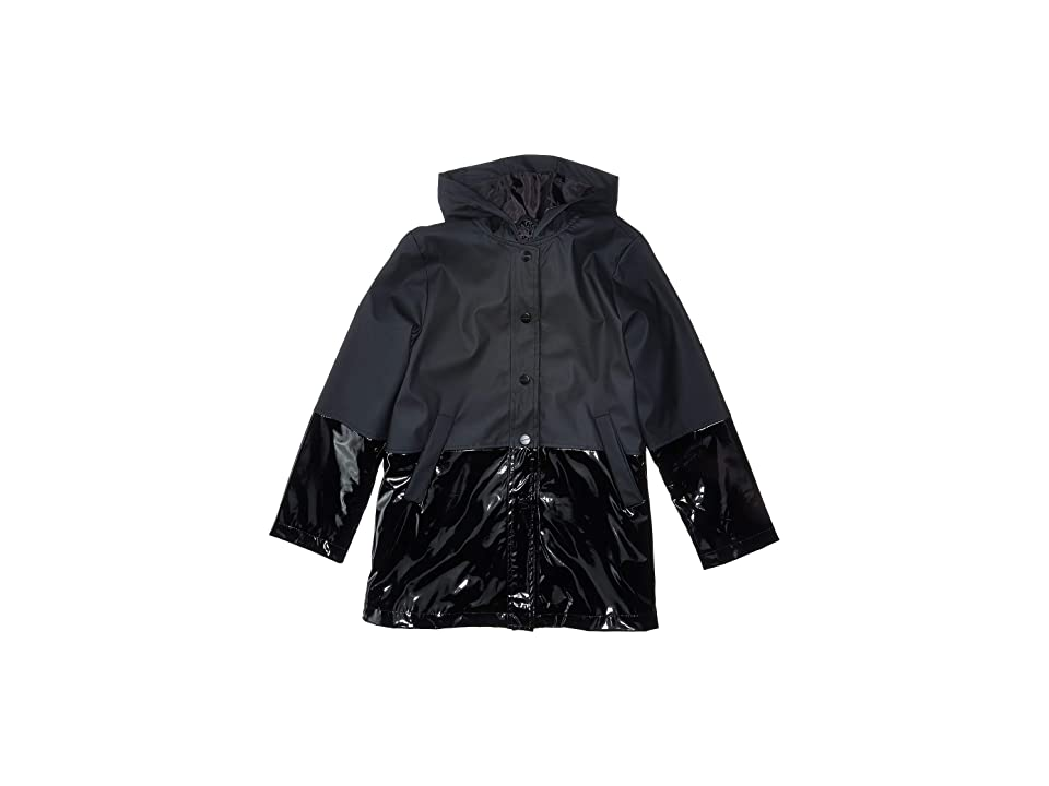 Urban Republic Kids Raincoat Color Block Jacket (Little Kids/Big Kids) (Black) Girl
