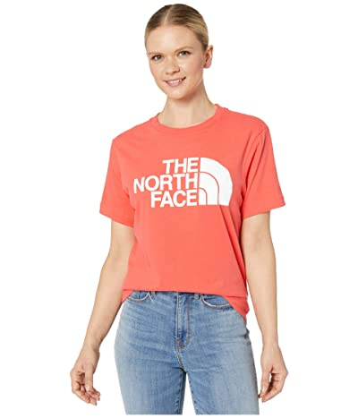 The North Face Half Dome Cotton Short Sleeve Tee (Cayenne Red) Women