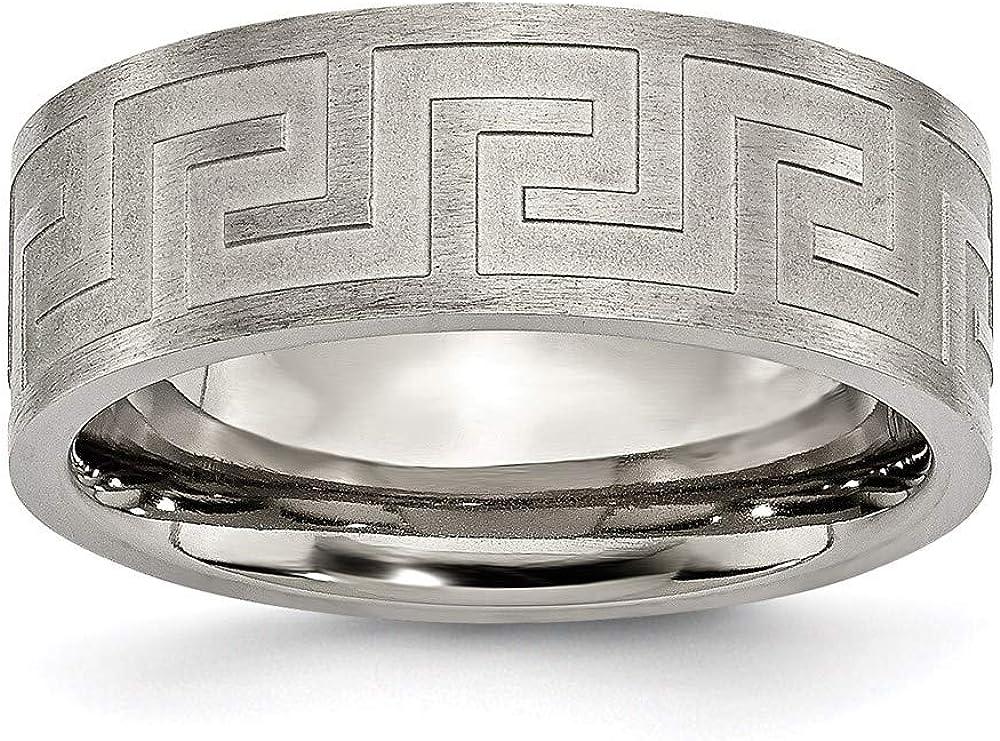 Ryan Jonathan Fine Jewelry Milwaukee Mall Titanium Limited price Greek Satin 8mm and Key Wedd