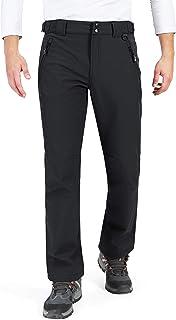 33,000ft Men's Fleece Lined Pants Softshell Ski Snow Pants Waterproof Outdoor Hiking Insulated Winter Pants