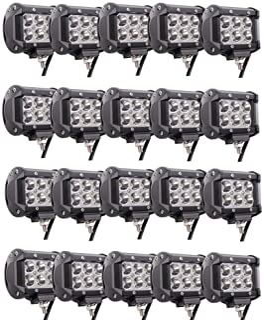 Lumitek 20PCS 4inch 18W LED Light Bar CREE Spot Light 1500LM Led Pods IP67 Waterproof 6000K Led Fog Lights Driving Lights ...