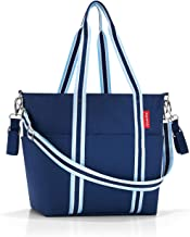 reisenthel Baby Organizer Diaper Tote with Crossbody Strap, Unisex Carryall with Changing Pad, Bottle Holder and Removable Drawstring Sack, Navy