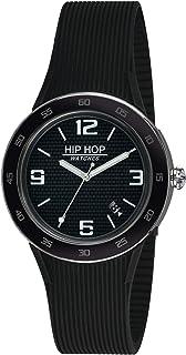 Orologio HIP HOP uomo METAL quadrante nero e cinturino in silicone, metallo nero, movimento SOLO TEMPO - 3H QUARZO
