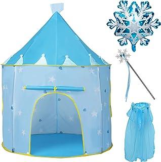 Joyjoz Carpa de Juegos de Princesa, Tienda de Castillo de Frozen, Regalo para Niñas, Carpas Pop Up de Casa de Juegos para ...