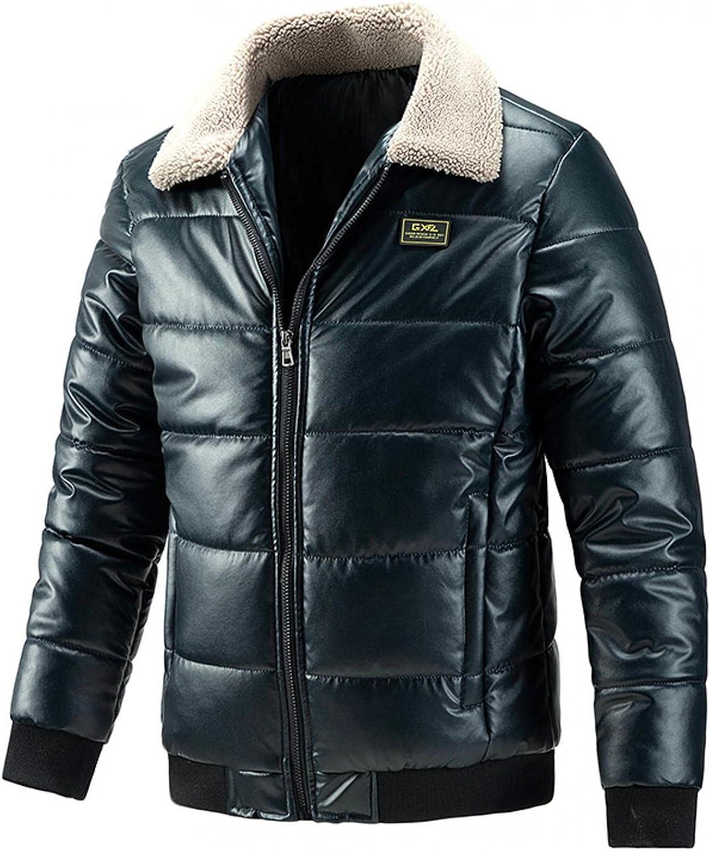 Men's Leather Jacket Autumn Winter Casual Slim Warm Lapel Letters Baseball Uniform Handsome Jacket Overcoat