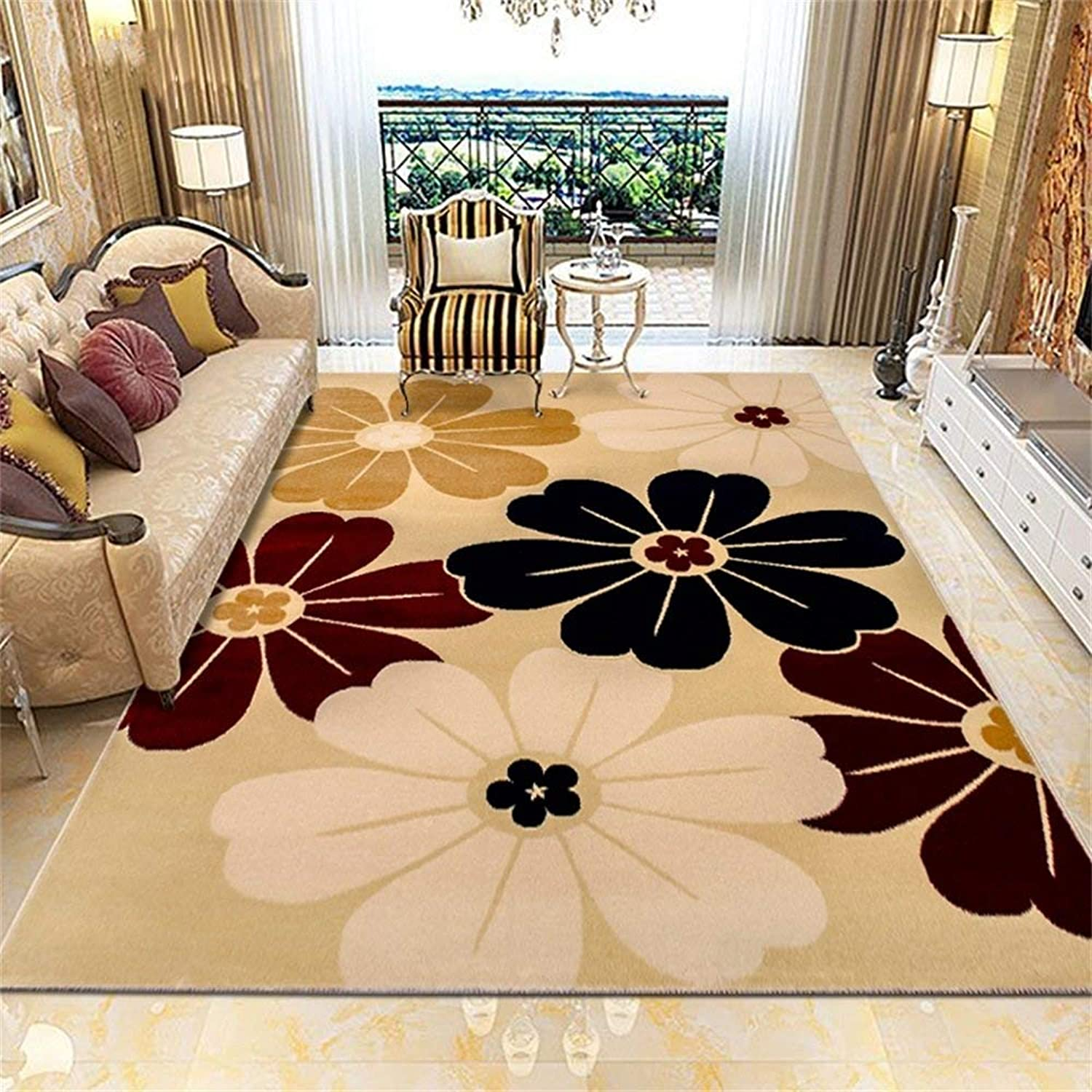 Royare Home Decorations mat Fashion Area Rugs and Living Room Mat Designer Rug Modern Minimalist Living Room Coffee Table Sofa Bed Bedroom Big Carpet Swivel Chair pad (color    1, Size   120  170cm)