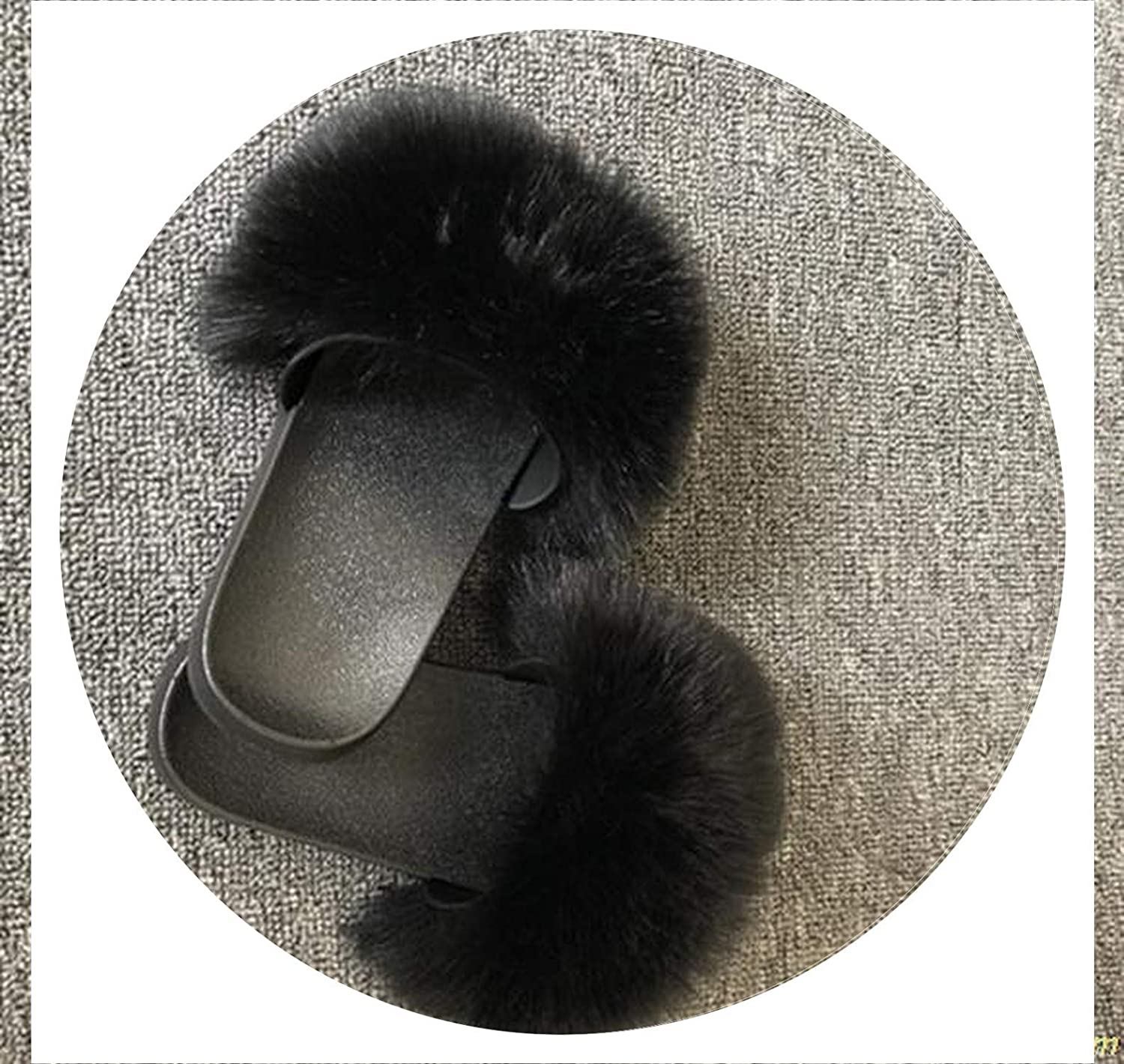 Brave pinkmary Slippers Women Fur Home Fluffy Sliders Plush Furry Flats Sweet Ladies shoes Large Size 45 Cute Pantufas