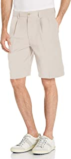 PGA TOUR mens Double Pleat Short With Active Waistband Golf Shorts