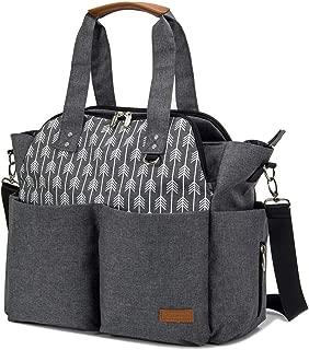 Lekebaby Diaper Bag Tote Purse Satchel Diaper Messenger for Mom and Girls Grey, Arrow Print