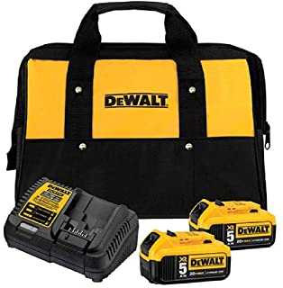 DEWALT 20V MAX Battery Starter Kit with 2 Batteries, 5.0Ah (DCB205-2CK)