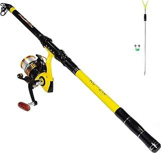 Richcat Fishing Rod and Reel Combo , Medium Heavy Poles and Reels Telescopic Rod Rits برای بزرگسالان