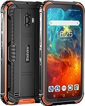 Movil Resistente, Blackview BV5900 Telefono Movil Antigolpes, 5,7 Pulgadas HD+ Display, 4G Android 9.0, Batería 5580mAh, 3GB RAM+32GB ROM, IP68 Impermeable Smartphone, Cámara 13MP+5MP,GPS/NFC-Naranja