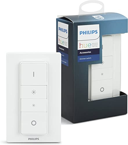 Philips Hue Smart Wireless Dimmer Switch with Remote, Installation-Free, Exclusive for Philips Hue Smart LED Light Bulbs