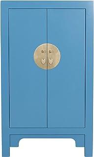Fine Asianliving Armoire Chinoise Bleu Saphir - Orientique Collection L70xP40xH120cm