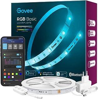 Govee LED Strip 5m Alexa Smart RGB WiFi LED Streifen, LED Lichterkette Band App Steuerung WLAN mit Alexa und Google Assist...