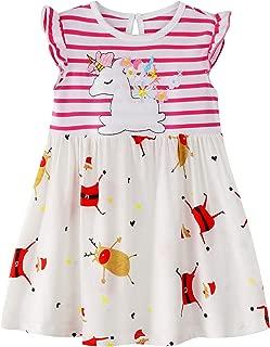Áo quần dành cho bé gái – Toddler Girls Cotton Longsleeve Casual Dresses 18M-7T
